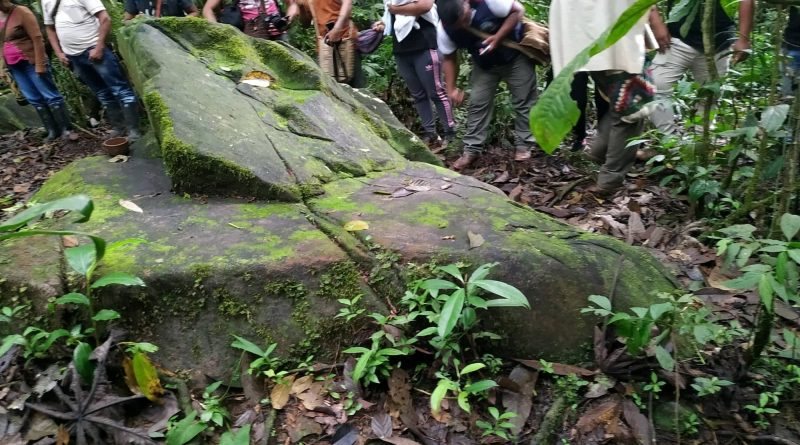 Piedra simbolo del territorio resguardo de Canoas